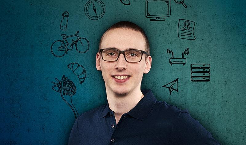 Caspar met logo's systeembeheerder voor het MKB